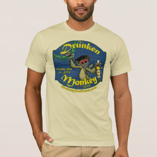 Drunk Monkey T Shirt