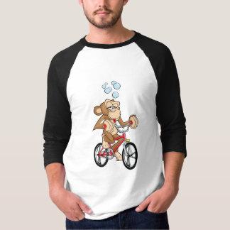 Drunken Monkey Riding Bicycle T Shirt