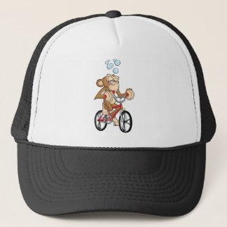 Drunken Monkey Riding Bicycle Trucker Hat