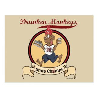 Drunken Monkeys Postcard
