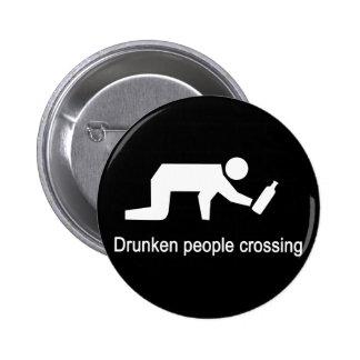 Drunken people crossing ⚠ Thai Sign ⚠ Pins