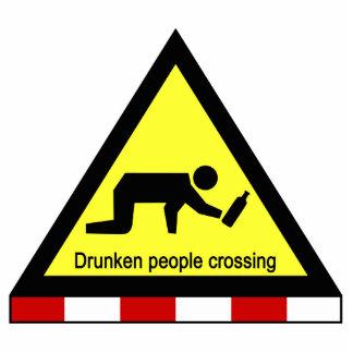 Drunken people crossing ⚠ Thai Sign ⚠ Cutout