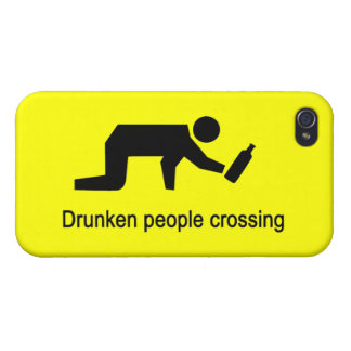 Drunken people crossing ⚠ Thai Sign ⚠ Covers For iPhone 4