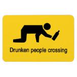 Drunken people crossing ⚠ Thai Sign ⚠ Vinyl Magnet