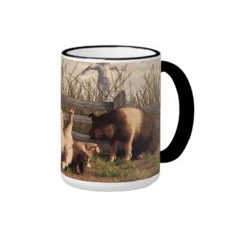 Drunken Pigs Ringer Mug