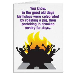 Drunken Revelry Humorous Birthday Card