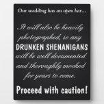 Drunken Shenanigans Display Plaque