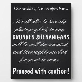 Drunken Shenanigans Plaque