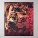 Drunken Silenus by Antoon van Dyck Print