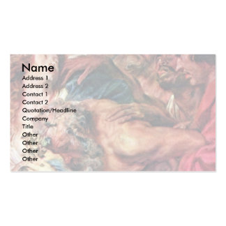 Drunken Silenus By Dyck Anthonis Van Double-Sided Standard Business Cards (Pack Of 100)