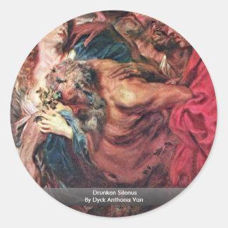 Drunken Silenus By Dyck Anthonis Van Sticker