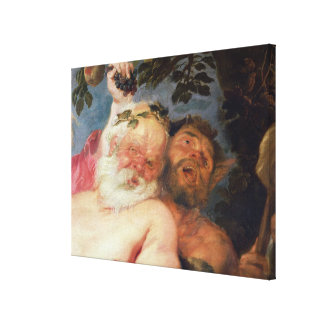 Drunken Silenus Supported by Satyrs, c.1620 Canvas Print