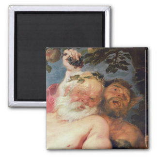 Drunken Silenus Supported by Satyrs, c.1620 Magnet