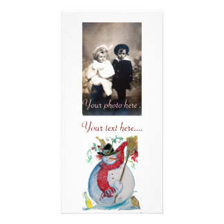 DRUNKEN SNOWMAN PHOTO CARD