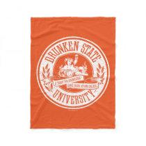 Drunken State University Fleece Blanket