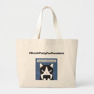 #DrunkPattyForPresident Jumbo Tote Tote Bags