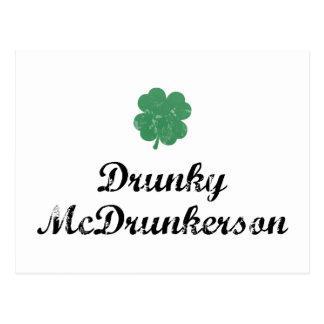 Drunky McDrunkerson Postcard