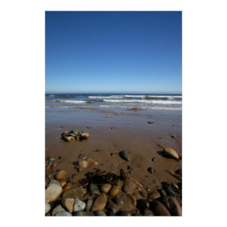 Druridge Bay Northumberland Sea Views Poster