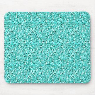 Druzy crystal - aquamarine blue mouse pad