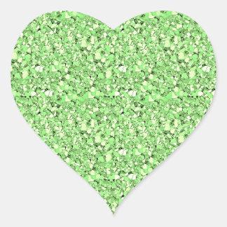 Druzy crystal glitter - peridot green stickers