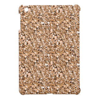 Druzy crystal glitter - rose gold color case for the iPad mini