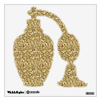 Druzy crystal - metallic gold wall sticker