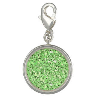 Druzy crystal - peridot green charm