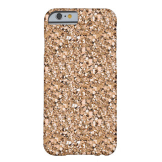 Druzy crystal - rose gold color barely there iPhone 6 case