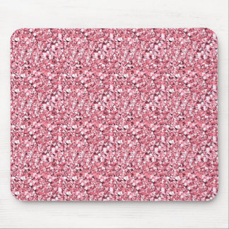 Druzy crystal - rose quartz pink mouse pad
