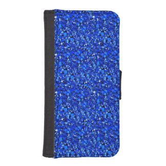 Druzy crystal - Sapphire blue iPhone SE/5/5s Wallet Case