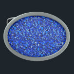 "Druzy crystal - Sapphire blue Oval Belt Buckle<br><div class=""desc"">Digitally enhanced image of druzy quartz crystals in shades of deep cobalt blue</div>"