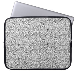 Druzy crystal - white gold color computer sleeve