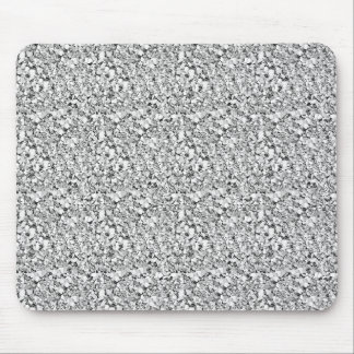 Druzy crystal - white gold color mouse pad