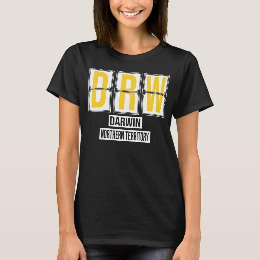 DRW - Darwin Australia Airport Code T-Shirt - Best Selling Long-Sleeve Street Fashion Shirt Designs