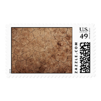 Dry and Cracked Dirt Faux Textured Postage