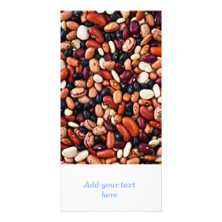 Dry beans photo greeting card