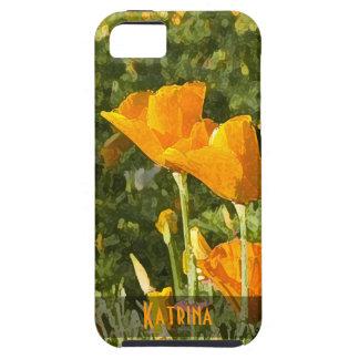 Dry Brush Effect California Poppy Photograph iPhone SE/5/5s Case