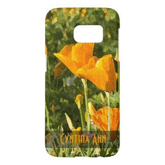 Dry Brush Effect California Poppy Photograph Samsung Galaxy S7 Case