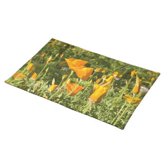 Dry Brush Effect on California Poppy Photograph Placemat