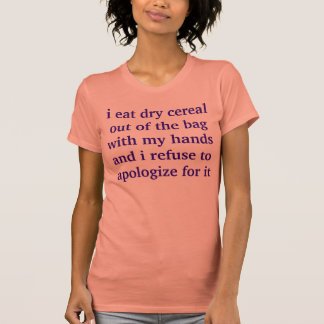 dry cereal fan t-shirt