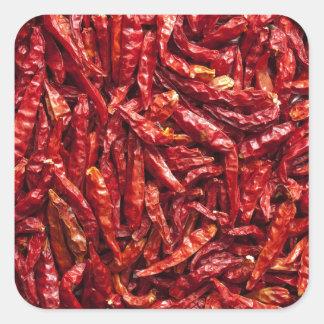 Dry Chili Square Sticker