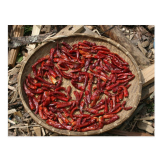 dry chillies postcard