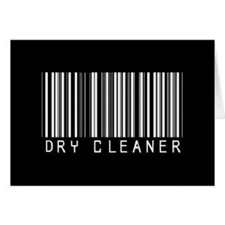 Dry Cleaner Bar Code Card