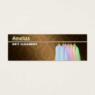 Dry Cleaner Skinny Business Cards