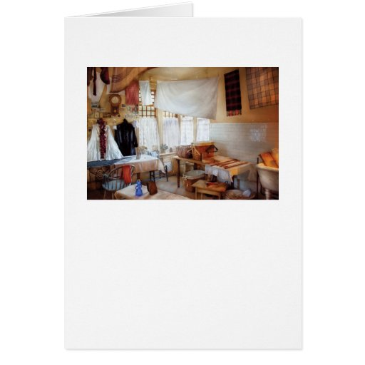 Dry Cleaner - The laundry room Greeting Card
