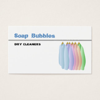 Dry Cleaners Business Cards