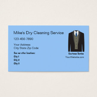 Dry Cleaning Business Cards