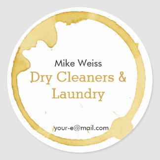 Dry Cleaning & Laundry coffee stain is not a crime Stickers