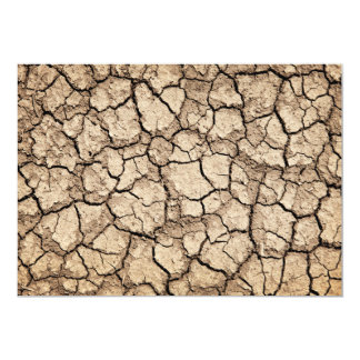 Dry cracked ground during drought card