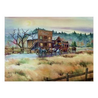 DRY CREEK STATION by SHARON SHARPE Poster